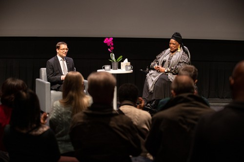 Alexander Neef and Jessye Norman in conversation. Photo credit: Kenneth Chou Photography.