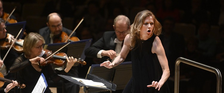 Barbara Hannigan with the TSO. Photo credit: Jag Gundu.