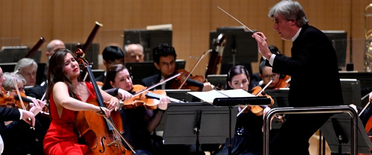 Cellist Alisa Weilerstein and conductor Thomas Dausgaard with the TSO. Photo credit: Jag Gundu.