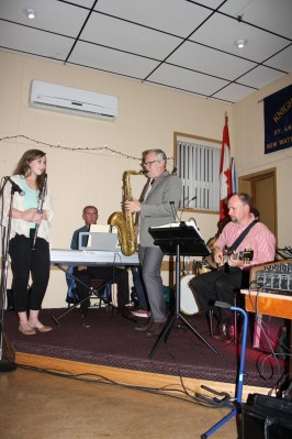 VIrginia and Kirk MacDonald at the Cape Breton Jazz Festival