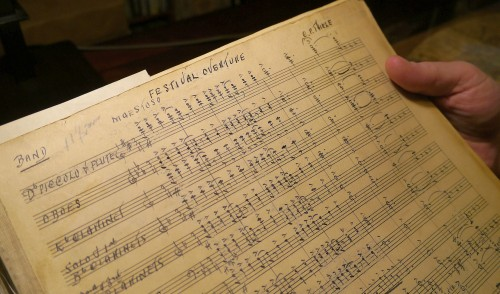 Charles Frederick Thiele's newly discovered Festival Overture. Photo by Pauline Finch
