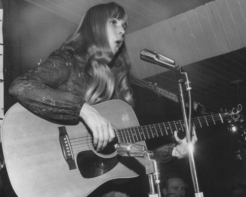 Joni Mitchell on a flyer for the Riverboat, Yorkville 1967