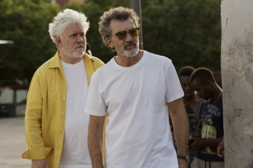 Pedro Almodóvar (left) and Antonio Banderas. Courtesy Sony Pictures Classics.