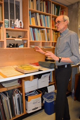 Gary Corrin in the Toronto Symphony Orchestra library