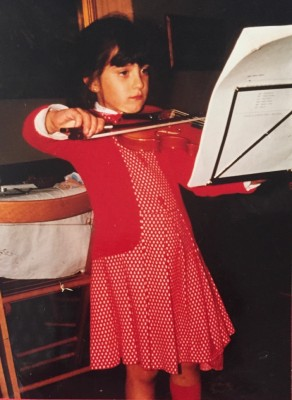 Elisa Citterio as a child