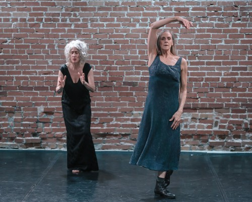 Fides Krucker (left) and Peggy Baker. Photo by Jeremy Mimnagh