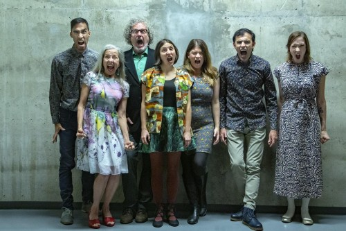 Vocal collective Phth (Sarah Albu, fourth from left)