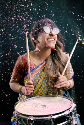 Sarah Thawer kicks off Drum Week March 8. Photo by Brendan Mariani
