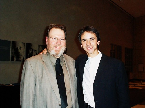 David Olds with Jean-Guihen Queyras, November 2002