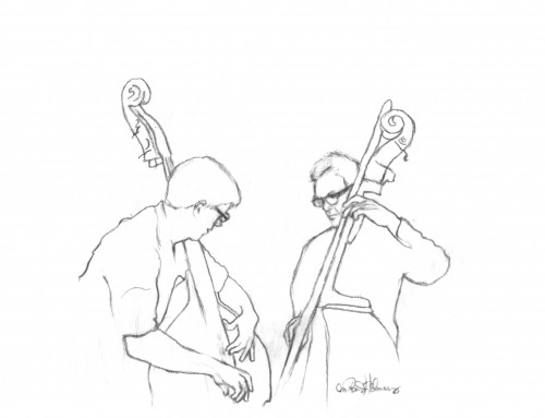 """Pete & Rob"" drawing by M. Randi Helmers"