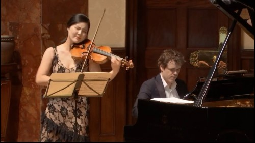 Wigmore Hall / BBC Radio 3's recital series: this one featuring Benjamin Grosvenor and Hyeyoon Park, and an audience of two.