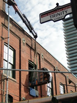 Tapestry moves its new instrument into its Distillery District studio space.