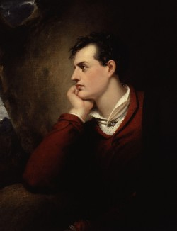 Lord Byron, in a portrait by Richard Westall.